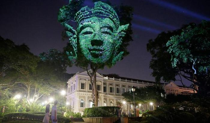 Инсталляция «Божественные деревья» в Сингапуре.