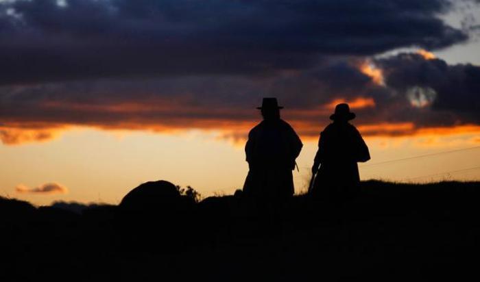 Фермеры недалеко от Андауайласа, Перу.