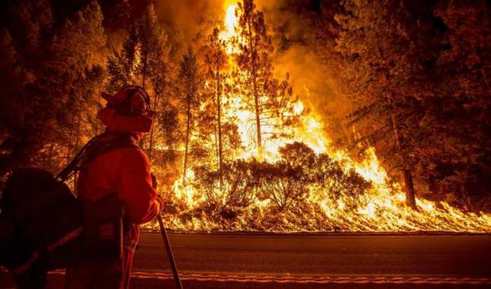 Лесные пожары в Калифорнии, США.