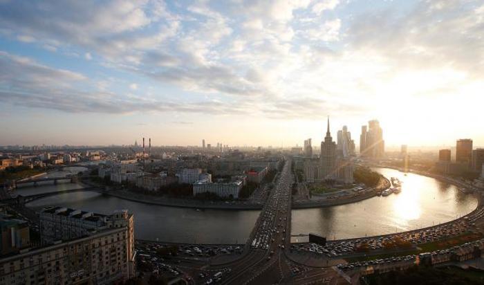 Вид на Москву с воздуха.