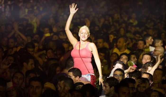 Международный фестиваль электронной музыки у подножия горы Масада, Израиль 24 октября 2014.