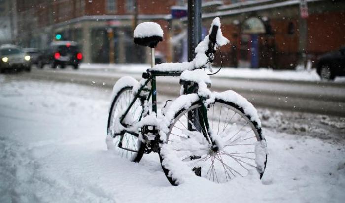 Снег в Кембридже, Массачуссетс, США, 24 января 2015.