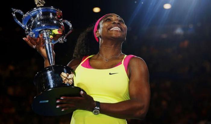 Американская теннисистка Серена Уильямс стала победительницей Открытого чемпионата Австралии, который проходит в Мельбурне, Австралия 31 января 2015.