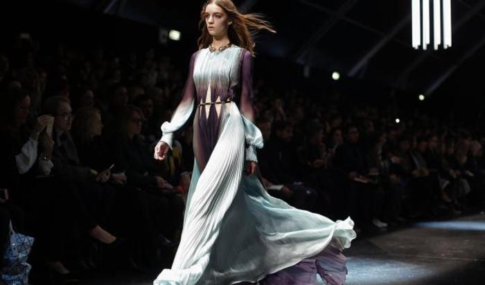 Показ коллекции Роберто Кавалли во время Миланской недели моды 28 февраля 2015.