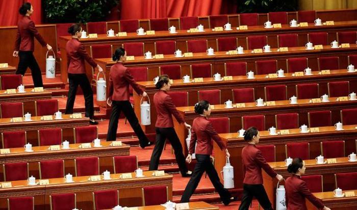 Подготовка к заседанию Народного политического консультативного совета Китая в Пекине, 3 марта 2015.