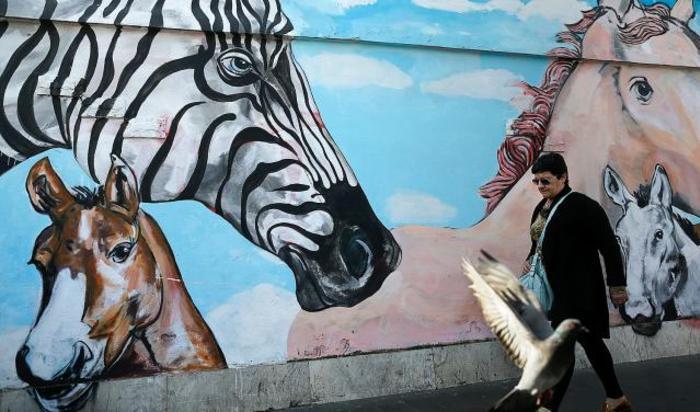 Граффити в центре Рима.