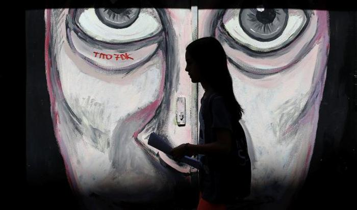 Граффити в Мадриде, Испания.