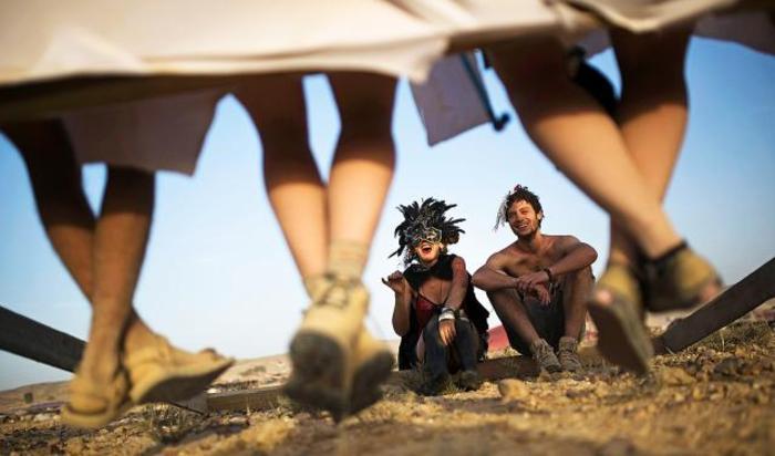 На фестивале современного искусства Midburn в Израиле.
