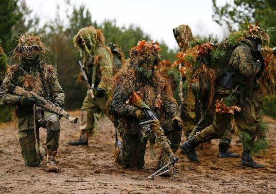 Военные учения польских волонтеров