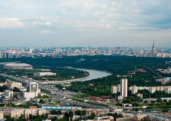 Москва с высоты не птичьего полета