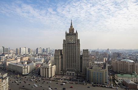 Здание Министерства иностранных дел РФ.