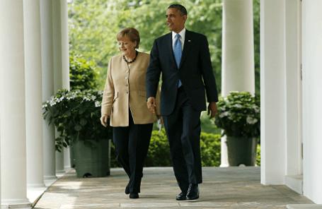 Канцлер Германии Ангела Меркель и президент США Барак Обама.