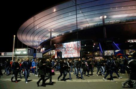 События возле стадиона Stade de France
