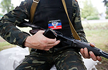 В Донецке рядом с детской площадкой взорвался снаряд