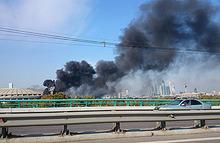 Стадион «Лужники» загорелся в Москве