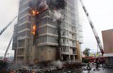 Пожар в Красноярске. 25-этажная высотка вспыхнула, как свечка и горела пять часов